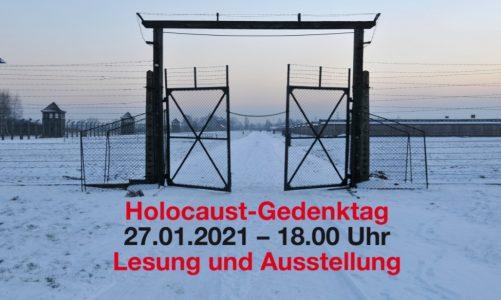 Holocaust-Gedenktag (27. Januar) Lesung und Ausstellung