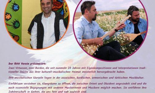 Online streaming der Ausstellung von Nuh Ates und Online Live-Konzertes mit Mikaîl Aslan & Cemîl Qoçgîrî